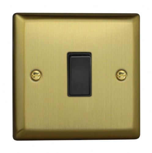 Varilight XY20B.BB Urban Brushed Brass 1 Gang 20A Double Pole Switch